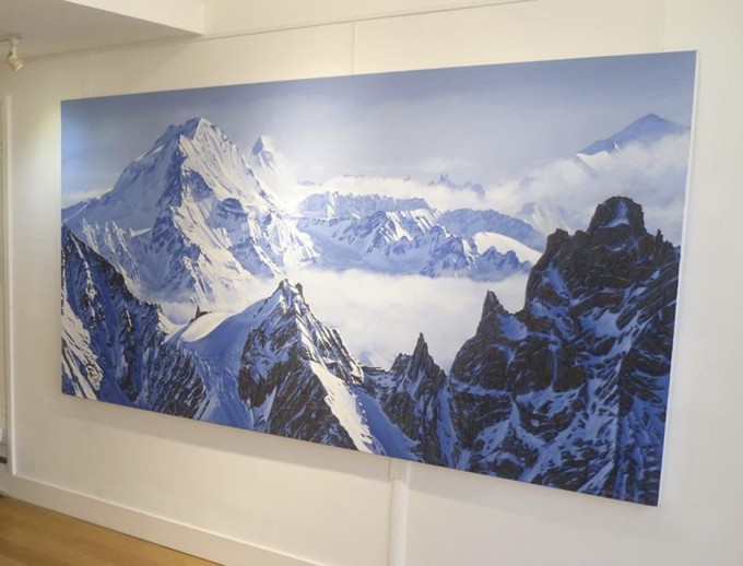 'Haute Route' by William Thomas, on display at Canvas Wimbledon